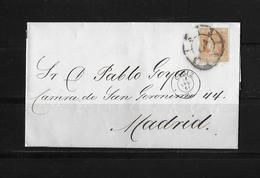 SPAIN / Spanien → Letter Cadiz To Madrid 1861 - Lettres & Documents