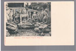 BURMA/ MYANMAR Gaudamas Shwe Dagone Pagoda Rangoon Ca 1910 OLD POSTCARD 2 Scans - Myanmar (Burma)