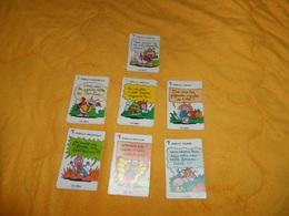 JEU DE CARTES 7 FAMILLES DATE ?.../ FAMILLE. CHENILLE, COCCINELLE, ABEILLE, CIGALE, PAPILLON, MOUSTIQUE, FOURMI. - Cartes à Jouer