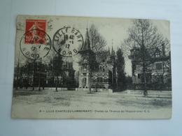 1912  LILLE CANTELEU LAMBERSART CHALETS AVENUE DE L'HIPPODROME ED EC 8  CIRCULÉE DOS DIVISE ETAT BON - Lille