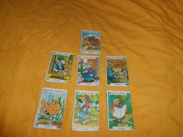 JEU DE CARTES 7 FAMILLES DATE ?.../ FAMILLE. LAPIN, POISSON, OISEAU, TORTUE, CHIEN, CHAT, HAMSTER.. - Playing Cards