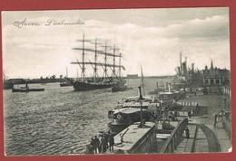 Anvers L' Embarcadère  Zeilboot, Geanimeerd, Gelopen Kaart 2 Scan - Laakdal