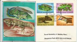 PAPOUASIE.   Reptiles De Papouasie.  FDC 1978 - Papouasie-Nouvelle-Guinée