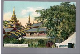 BURMA/ MYANMAR Government House Mandalay Ca 1910 OLD POSTCARD 2 Scans - Myanmar (Burma)