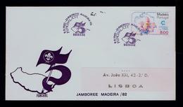 JAMBORETE Madeira Island CNE 75th UNIDADE Scouting Scoutisme Portugal 1982 Scouts Boyscouts (pmk Special 2R-cover) G3633 - Cartas