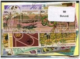 Lot 50 Timbres Thème Burundi - Timbres