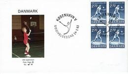 Dänemark Danmark 1983 - Badminton-Weltmeisterschaften - Lene Köppen - MiNr 770 FDC - Badminton