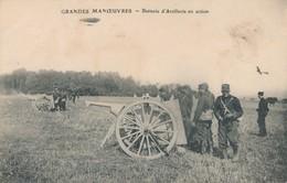CPA - Thèmes - Militaria - Guerre 1914 - Grandes Manoeuvres - Batterie D'Artillerie En Action - Guerre 1914-18