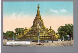 BURMA/ MYANMAR King Of Pagan's Pagoda Pagan Ca 1910 OLD POSTCARD 2 Scans - Myanmar (Burma)