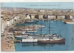 MARSEILLE . PANORAMA DU QUAI DU PORT . CARTE ECRITE AU VERSO - Joliette, Zone Portuaire