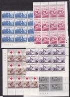1959 Italia Italy Repubblica INDIPENDENZA INDEPENDENCE 12 Serie Di 5v. MNH** In Blocco - Non Classificati