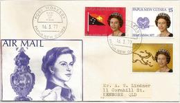 PAPOUASIE.   Accession Reine Elisabeth II.    FDC 1977 - Papouasie-Nouvelle-Guinée