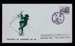 World 28th JAMBOREEE ON AIR Scouting Scoutisme Portugal Almada 1985 Scouts On Moon Satélite (pmk Special 2R-cover) G3634 - Scoutisme
