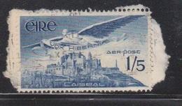 IRELAND Scott # C7 Used On Piece - Airmail - 1949-... Republic Of Ireland