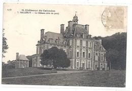 CHATEAUX DU CALVADOS- BALLEROY . LE CHATEAU (cote Parc) TIMBRE DECOLLE CARTE INTACTE . 13-9-1934 - France