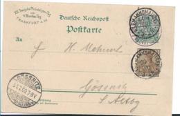Ger466 / Deutscher Philatelistentag 1900. Frankatur Mit Sonder- Sowie Tagesstempel 30.7. Nach Gössnitz - Allemagne