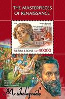 SIERRA LEONE 2018 - S. Botticelli, Michelangelo S/S. Official Issue. - Art