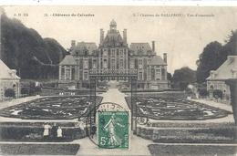 CHATEAUX DU CALVADOS .  CHATEAU  DE BALLEROY . VUE D'ENSEMBLE . AFFR SUR RECTO LE 29-6-1909 - France