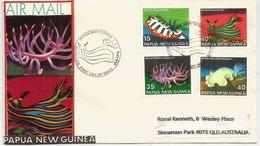 PAPOUASIE.  Gastéropodes De La Papouasie. FDC 1978 - Papouasie-Nouvelle-Guinée