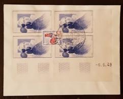 """FRANCE  """"Salon D'automne 1963"""" Sur Lettre - Bloc Coin Daté Vignette Citex.. (1) - Briefmarkenausstellungen"""