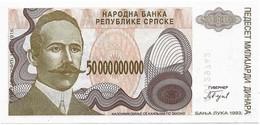 Bosnia 50 000 000 000 Billions Dinara 1993. Unc - Not Issued - P157 - Bosnie-Herzegovine