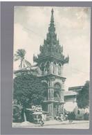 BURMA/ MYANMAR Buddhist Monastery In Bazaar Rangoon Ca 1910 OLD POSTCARD 2 Scans - Myanmar (Burma)