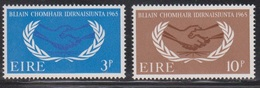 IRELAND Scott # 202-3 MNH - International Cooperation Year - 1949-... Republic Of Ireland