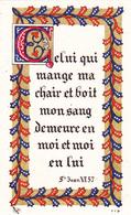 IMAGE PIEUSE RELIGIEUSE BIP N° 719 Celui Qui Mange Ma Chair Et Boit Mon Sang... LEPAGE Pierre 1952 - Devotieprenten