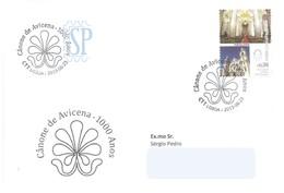 Carimbo Comemorativo Avicena Avicenna Avicenne Postmark Cathedrals Religions - Celebridades