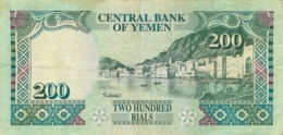 YEMEN 200 RIALS - Yémen