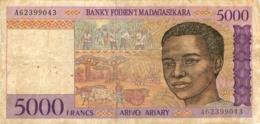 BILLET 5000 FRANCS MADAGASCAR - Madagascar