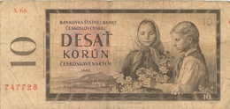 BILLET  CESKOSLOVENSKYCH DESAT KORUN 10 - Czechoslovakia