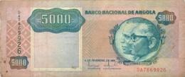 BILLET  ANGOLA 5000 KWANZAS  1991 - Angola