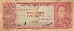 BILLET    100 PESOS BOLIVIANOS  BOLIVAR - Bolivia