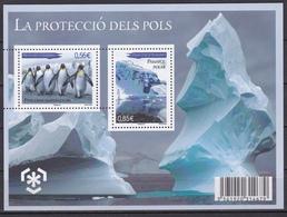 Andorre Andorra 2009 Protection Of Polar Areas And Glaciers (Yv BF 2 ) MNH** Luxe - Preservare Le Regioni Polari E Ghiacciai