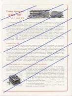 GEM Treno Elettrico OO 15 Volt Mod. M3 Brochure - En Italien - Books And Magazines