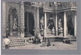 BURMA/ MYANMAR Pagoda Rangoon Ca 1910 OLD POSTCARD 2 Scans - Myanmar (Burma)