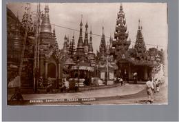 BURMA/ MYANMAR Shrines Shwedacon Pagoda Rangoon Ca 1920 OLD PHOTO POSTCARD 2 Scans - Myanmar (Burma)