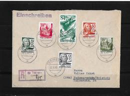 Alliierte Besetzung → Französische Zone Württemberg R-Brief Tübingen Nach Hademarschen 1948 - Französische Zone