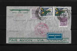 Brasilien → Condor Zeppelin Lufthansa Brief Rio Nach Dortmund 1934  ►RRR◄ - Poste Aérienne