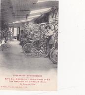 CPA Animée (27) EVREUX Etablissement Edmond HEE Cycles Et Automobiles Vélos Cycling Radsport Bicyclette - Evreux