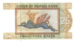 Burma P.59 25 Kyats 1972 Unc - Myanmar