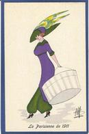 CPA Bill Chapeau Mode Femme Girl Women Non Circulé Glamour GH Série 31 Type Sager Roberty - Fashion