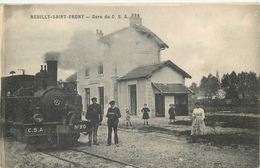 02 - Aisne -NEUILLY SAINT FRONT - 02T10001- Gare -superbe Plan - Etat Superbe - Francia