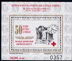 1995, Mazedonien, ZZ  79 Block 15 A, Rotes Kreuz: Woche Der Solidarität.  MNH ** - Mazedonien