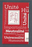 France, 5016, Imprimé En Héliogravure, Gommé, Neuf **, TTB, TVP Rouge, Marianne De Ciappa Et Kawena, Croix-Rouge 2017 - 2013-... Marianne De Ciappa-Kawena