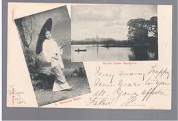 BURMA/ MYANMAR A Burmese Belle, Royal Lakes Rangoon Ca 1910 OLD POSTCARD 2 Scans - Myanmar (Burma)