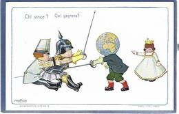 CPA Bertiglia Enfants Illustrateur Italien Italie Italia Guerre Anti Germany Kaiser Russie Non Circulé Escrime épée - Bertiglia, A.