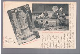 BURMA/ MYANMAR Burmese Glass Mosaic, Priests (Hpoongyees) Ca 1910 OLD POSTCARD 2 Scans - Myanmar (Burma)