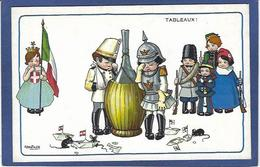 CPA Bertiglia Enfants Illustrateur Italien Italie Italia Guerre Anti Germany Kaiser Russie Non Circulé Souris Mouse - Bertiglia, A.
